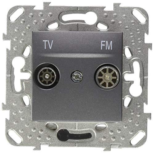Schneider Electric MGU50.453.12B stopcontact Tv-Fm. Serie Intermedia grafiet