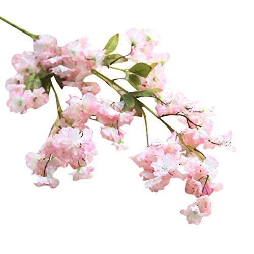 Künstliche gefälschte Kirschblüte Seidenblume Braut Hortensie Hausgarten Dekor Sakura Pflaumenblüte Simulation Blumen gefälschte Blumen Peach Blossom, Ewige Blüte Seide Hochzeit Deko Wohnzimmer