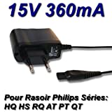 TOP CHARGEUR * Adaptador Alimentación Cargador Corriente 15V Reemplazo Recambio Afeitadora Recortador de Barba Philips QP6520/QP6510 OneBlade Pro (15 V)