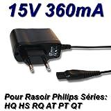 TOP CHARGEUR * Adattatore Caricatore Caricabatteria Alimentatore 15V per Rasoio Elettrico Philips PT715 PT720 PT725 PT730 PT735 PT860