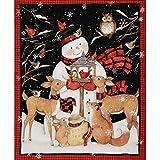Damien Linn - 36' Fabric Panel   Springs Susan Winget Christmas Snowman Deer Cardinal Scene/Fabric/Crafts