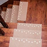 Asdomo - Alfombrillas para Escalera (70 x 22 x 4,5 cm, Antideslizantes, PVC), Color Arena, poliéster, Rice Camel, 70 * 22 * 4.5cm