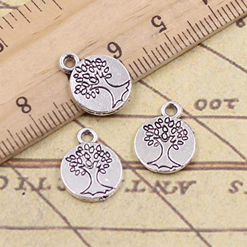 WANM 30Pcs Charms Peace Tree 15X12Mm Antique Silver Color Pendants Making Diy Handmade Tibetan Finding Jewelry For Bracelet
