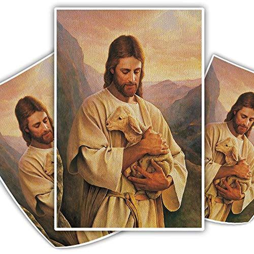Christian Jesus and The Sheep Canvas Paintings on The Wall Posters and Prints Modern Wall Art Canvas Pictures Room Decor (20X30 cm,No frame)