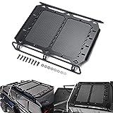 XUNJIAJIE Barre portapacchi in metallo con pannello in fibra di carbonio 183 x 166 mm Upgrades Parts for Traxxas TRX6 G63 TRX4 G500 1/10 RC Vehicle Scale