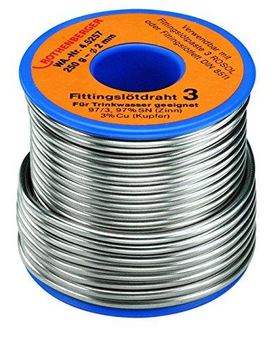 Rothenberger Fittingslot 3 Qualitäts-Weichlot (S-SN97Cu3, 230-250°C, 250 g, Ø 3 mm) 45255