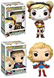 Funko POP! DC Bombshells: Harley Quinn + Supergirl – Stylized Vinyl Figure Set NEW...