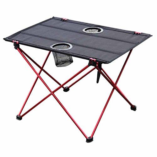 Lembeauty Table de pique-nique pliable en alliage d'aluminium - Portable - Compacte - Pliable - Avec sac de transport - Pour camping, plage