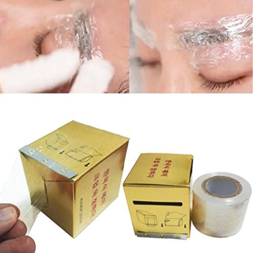 AMA(TM) Professional Eyebrow Tattoo Plastic Wrap Preservative Numbing Film Makeup Supplies (Gold)
