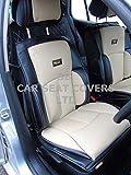 r - Adecuado para coche Volvo S60, fundas de asiento, YS01 RECARO, color crema y negro