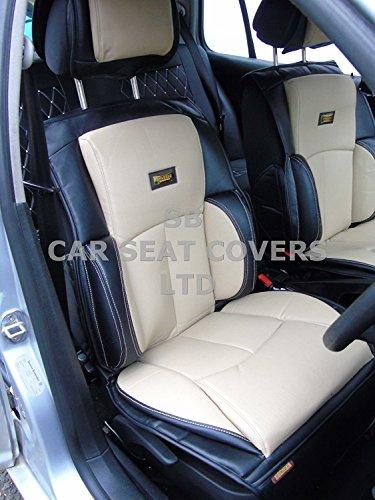 R – passend für Honda HRV Auto-Sitzbezüge, YS01 Recaro Creme/Schwarz