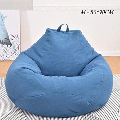 Sitzsack Kinder Sofastühle Abdeckung Ohne Füllstoff Hocker Liege Chaise Wohnzimmermöbel Puf Sofas Lazy Bag Office-D_M-80X90