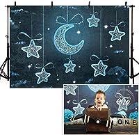 新しいブルーナイトスカイスタームーン写真の背景7x5ft新生児の誕生日の装飾背景写真スタジオ