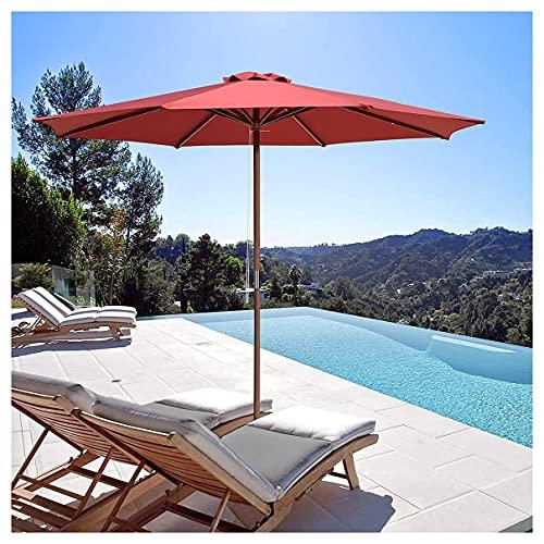WUKALA Sombrillas para Jardin de 9ft,Parasol de Balcon Portátil,UV50+ Sombrilla Terraza Impermeable Y a Prueba de Viento,para Césped Playa Piscina Trasero Exterior