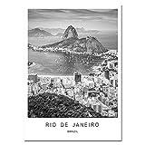 ZJMI Leinwanddrucke,Rio De Janeiro City Landscape Poster
