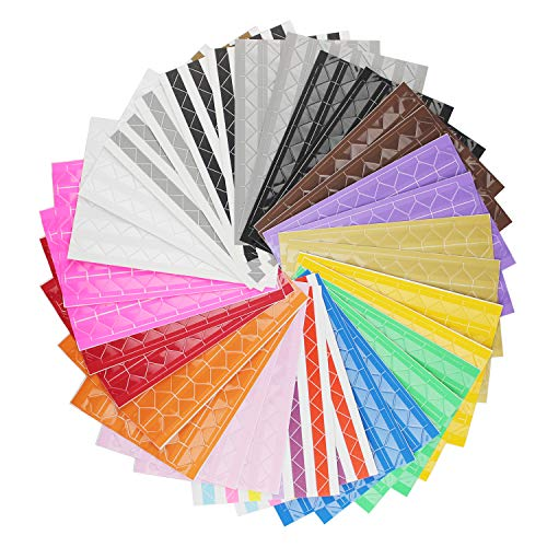selbstklebende Foto-Ecken für Bastelarbeiten wie die Erstellung von Fotoalben oder Scrapbooking, 32 Bögen, 16 verschiedene Designs