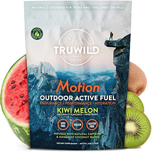 TRUWILD Motion - All Natural Pre Workout Powder Drink Mix for Men and Women - Plant Based Vegan Keto Preworkout Energy Drink Supplement - Amino Acids - Creatine Free - No Crash or Jitters (Single)