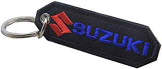 Suzuki Embroidered Patch Keychain Key Ring Motorcycle Racing Biker