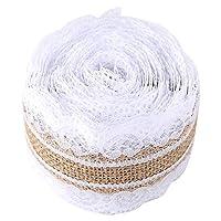 𝐂𝐡𝐫𝐢𝐬𝐭𝐦𝐚𝐬 𝐆𝐢𝐟𝐭 バーラップレースヘシアン、ナチュラルバーラップファブリック、バーラップヘシアン、結婚式用のお茶セットマットDIY素材で飾るホームカバータオルテーブルランナーギフト