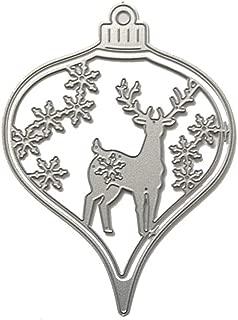 Samzary Deer Lantern Cutting Die Silver Dies Card Crafting Metal Cutting Dies For Scrapbooking Card Making Arts Supplies Paper Cards Craft Stencil 9 * 12.5cm