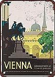 WallAdorn Viena Austria Vintage Look Cartel de Hierro Pintura Cartel de Chapa Vintage decoración de Pared para Cafe Bar Pub Inicio Cerveza Decoración Artesanía