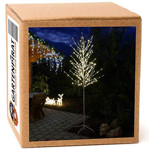 Gartenpirat LED Baum weiß 240 cm für außen 240 LED warmweiß Weihnachten