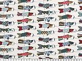 Zanderino ab 1m: Dekostoff, Windvogel, Drachen, Fischmotiv,
