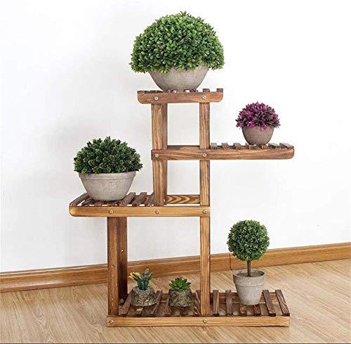 LKAIBIN Soporte de Plantas Soporte de Escritorio Mini Estante Poticano Pot Pine Wood Rack Preservación Balcón Sala de Estar Interior y Accesorios for Exteriores