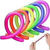 TOMYEER Los Juguetes elásticos sensoriales Coloridos ayudan a Reducir el estrés, la ansiedad, los Juguetes para Adultos, los Juguetes sensoriales de Cuerda elástica (Paquete de 12)