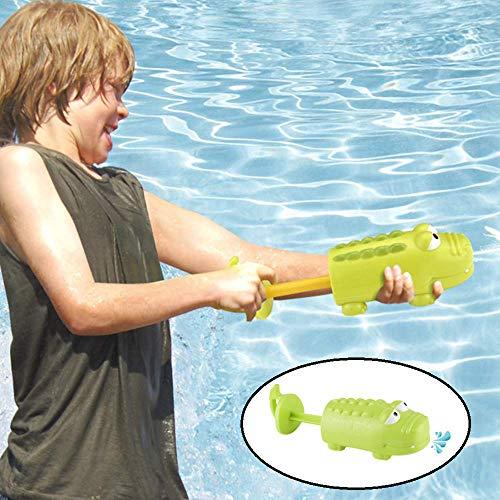 Shark Water Guns voor kinderen 2-delige/Group, Water Pistol Handheld Pull-Out met krachtige Long Distance, Vrolijk Water Vechten Speelgoed voor Zwembad Garden Beach,Green