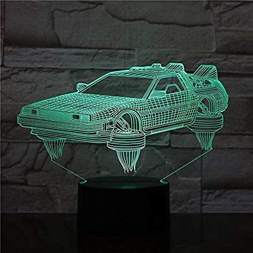 3D-Lampe zurück in die Zukunft Fahrzeugauto-Roman für Filmfans Bright Base Atmosphere LED-Nachtlichtlampe