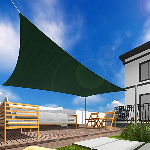 Windscreen4less 16' x 16' Sun Shade Sail Square Canopy in Green with Commercial Grade Customized