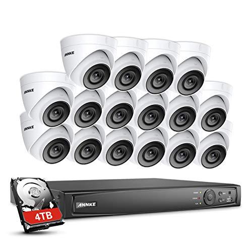 ANNKE 4K POE Überwachungssystem,16CH 8MP Überwachungskamera Set System 4TB HDD mit 16 * 1080P PoE IP 67 Kamera Set für Haus, Innen, Außen,Plug & Play CCTV Videoüberwachung