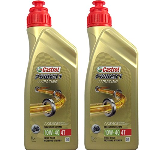 2x 1 Liter Castrol Power 1 Racing 4T 10W-40