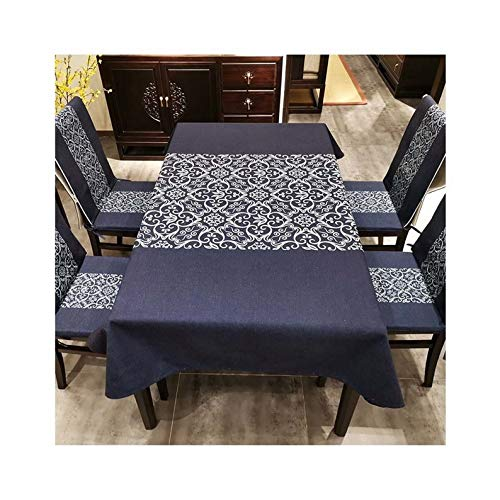 YFZ Tablecloth, Rectangular Living Room Coffee Table Tablecloth, Waterproof, Stain-proof And Anti-crease, 2 Colors, Cotton And Linen Tablecloth, Kitchen Tablecloth(Size:140 * 140cm,Color:purple)