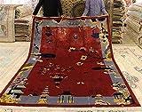 RQRQ Teppich Handmade Teppich Wohnzimmer Home High-End Schlafzimmer Teppich Villa Sofa Couchtisch Teppich Studie Bodenmatte Seidenteppich, 10,2000 mm x 3000 mm