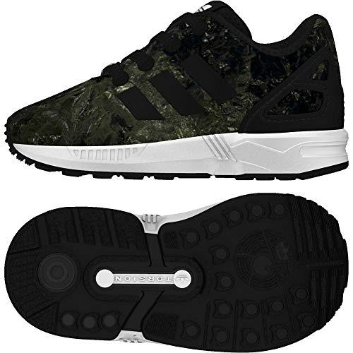 adidas ZX Flux El I I, Pantofole Unisex-Bimbi, Nero Negbas/Ftwbla 000, 21 EU