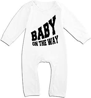 Alipapa Boy's & Girl's Baby On The Way Design Geek T Shirt White
