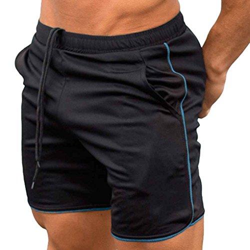 Xinjieda Verano Hombres Pantalones Cortos de Media caña de Fitness Culturismo gimnasios Joggers los Pantalones Cortos Pantalones Deportivos Pantalones Operando