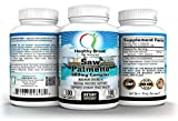 Saw Palmetto 500mg Complex 100 Capsules Saw Palmetto Berries Powder Extract Herbal Supplement Supports Healthy Prostate Urination Frequency & Flow May Block DHT & Reduce Hair Loss