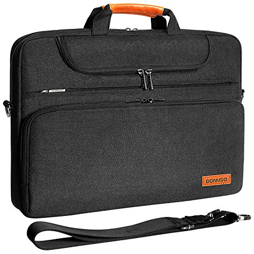 DOMISO - Funda impermeable para portátil de 15 a 15,6 pulgadas, para Lenovo IdeaPad ThinkPad/HP Pavilion 15 Envy 15, Dell XPS 15, Apple/Asus, color negro