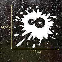 ZDZCLI カーステッカーアイ染色インク汚れブロット創造的人格面白いステッカーの傷 (Color : White)