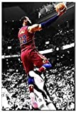 LeBron James Slam Dunk Basketball Legend Sports Poster Pictures Oil Painting Canvas Prints Artwork New Home Gifts Home Decor (20x28inch frameless)