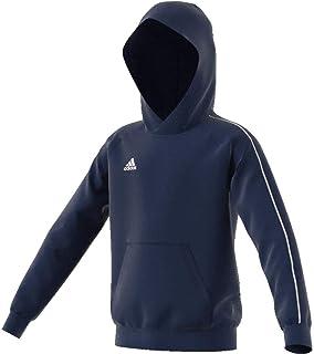 adidas Australia Kids Core 18 Hoodie, Dark Blue/White, 164