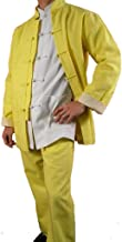 Fine Linen Golden Kung Fu Martial Arts Tai Chi Uniform Suit XS-XL or Tailor Custom Made + Free Magazine