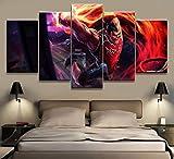 WYJIE Juego de 5 Paneles, impresión de Lienzo, Pintura, Sala de Estar, decoración de Arte de Pared, Imagen HD, póster de Obras de arteFramed40x60cm40x80cm40x100cm