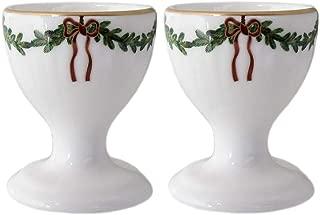 Royal Copenhagen 1017458 Star Fluted/Xmas Egg Cup Set of 2 Porcelain Multicoloured