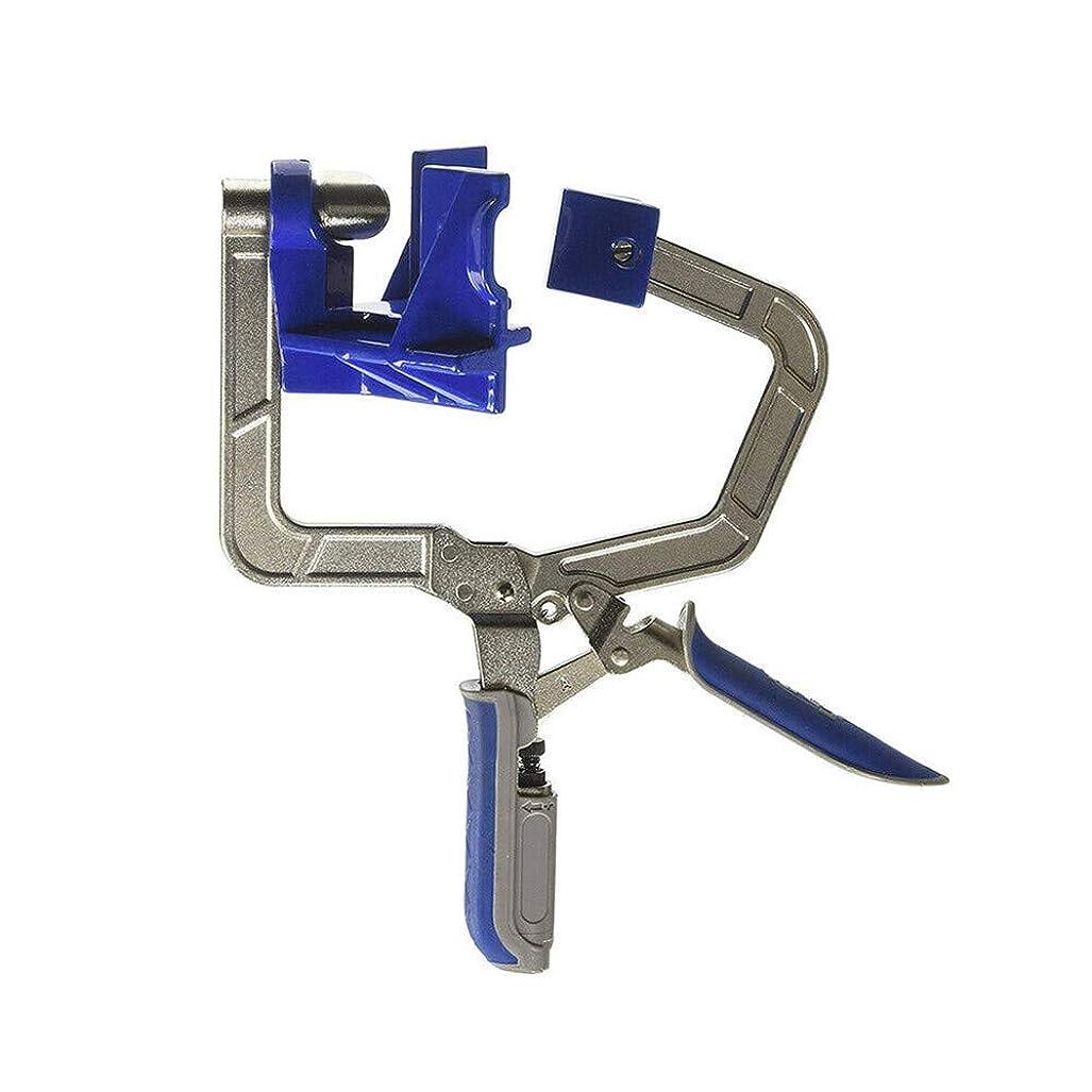 90°コーナークランプ、アルミ合金製直角固定具、多機能角度固定パンチャー、木工用、穴あけ、溶接、メンテナンス