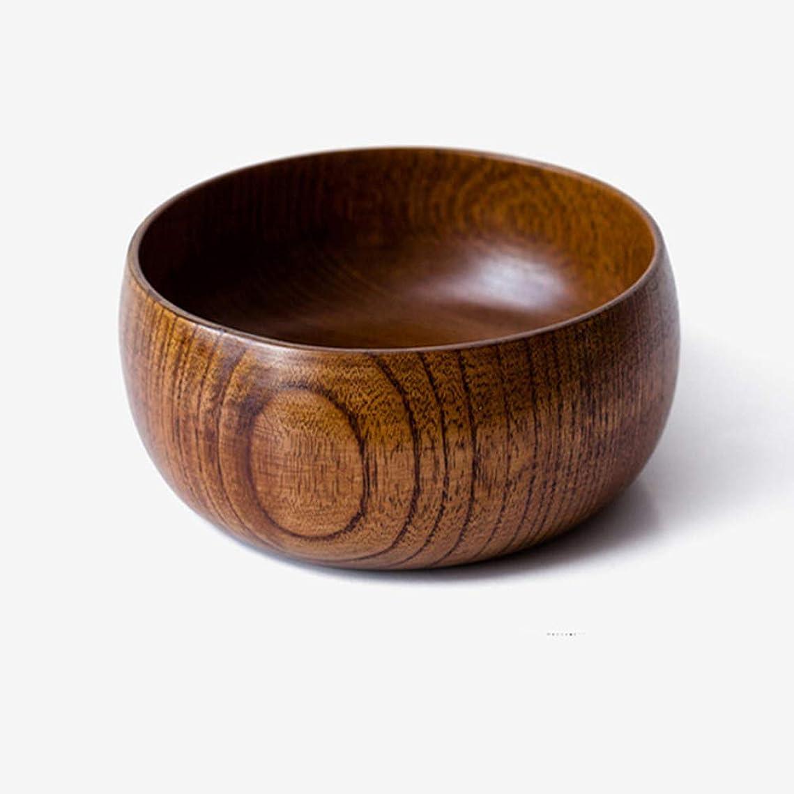 倒産定刻苦しみプレミア家庭用品丸みを帯びたサービングボウル、小さな木製スナックボウル/サービング皿、アカシアの木、茶色、13 x 13 x 7.1 cm