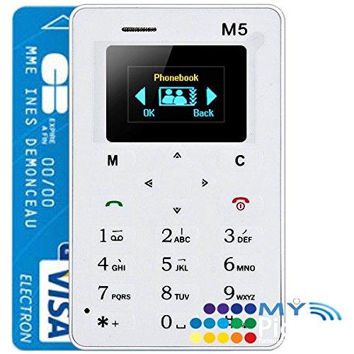 AIEK m5 blanco Mini Cena delgado teléfono celular de la tarjeta